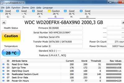 phần mềm test ổ cứng CrystalDiskInfo