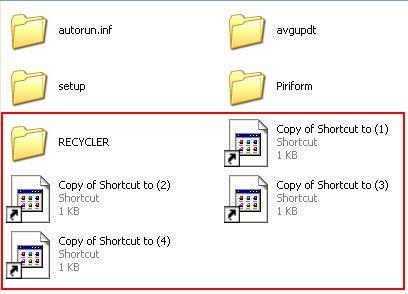 xóa sổ virus shortcut